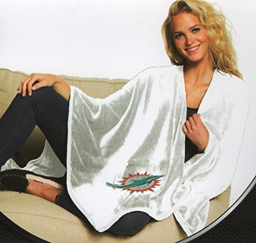 The Northwest Company Officially Licensed NFL Miami Dolphins Silk Touch Throw Blanket Wrap with Applique