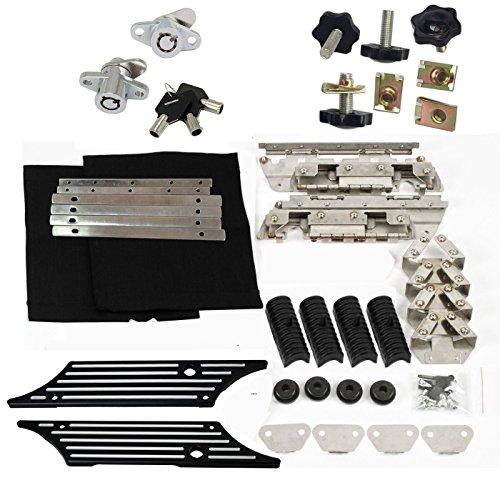 Saddlebag Latch Hardware Kit Black Billet Cover Theft Deterrent for Harley 1993-2013