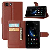 DOOGEE X5 Case, Doogee X5 Pro Case, Fettion Premium PU Leather Wallet Phone Cases Flip Cover with Stand Card Holder for Doogee X5 / Doogee X5 Pro Smartphone (Wallet - Brown)