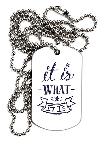 TooLoud It Is What It Is Adult Dog Tag Chain Necklace – 12 Pieces