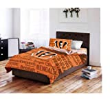 Cincinnati Bengals Full Comforter & Sheets (5 Piece NFL Bedding)