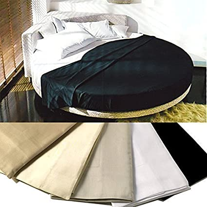 ROTONDO lenzuola per letto rotondo in Raso di Cotone 4 FEDERE colore ...