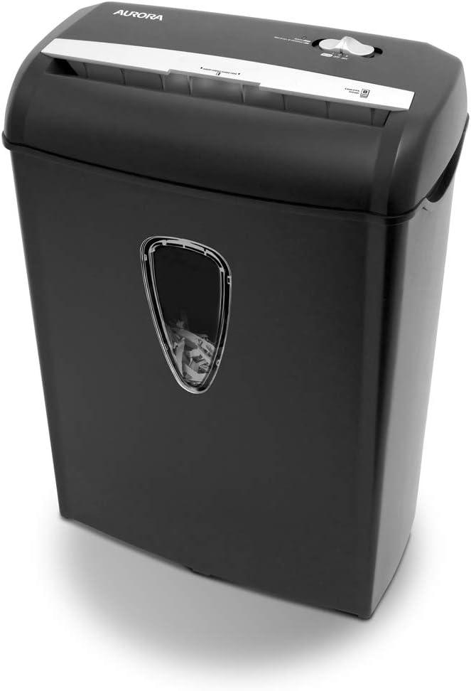Black NEW Shredding Machine Aurora 8-Sheet Cross-Cut Paper Shredder