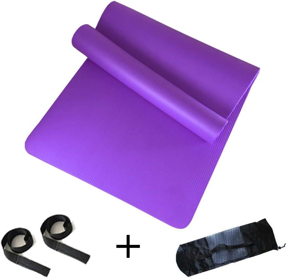 Dimensioni : Viola-20mm, Dimensioni : with Bag Style 80 Cm 20 Mm E 15 Mm Forma Fisica Anti Scivolo Tappetino Fitness Spessore Extra Yoga Mat Adatto per Sit-up in Campeggio 185