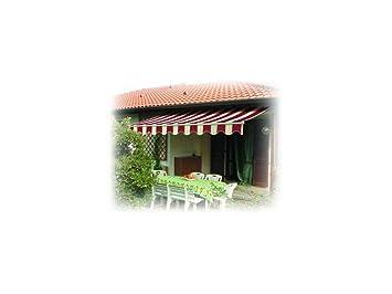 Tenda da sole avvolgibile a barra quadra può essere fissata sia a