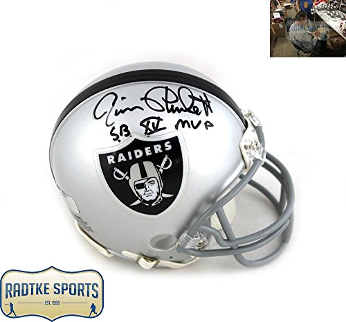 phed/Signed Oakland Raiders NFL Mini Helmet with