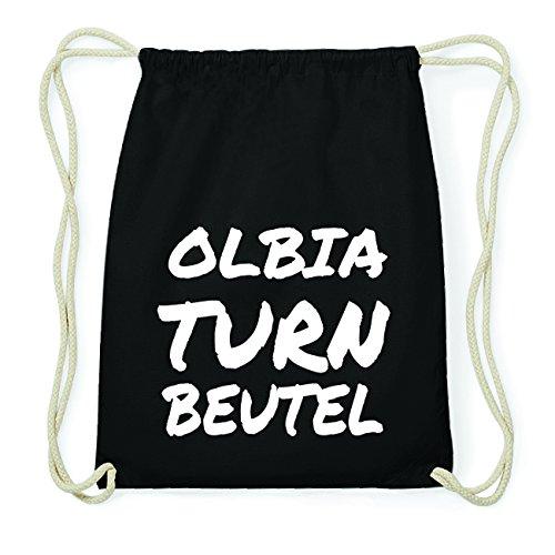 JOllify OLBIA Hipster Turnbeutel Tasche Rucksack aus Baumwolle - Farbe: schwarz Design: Turnbeutel