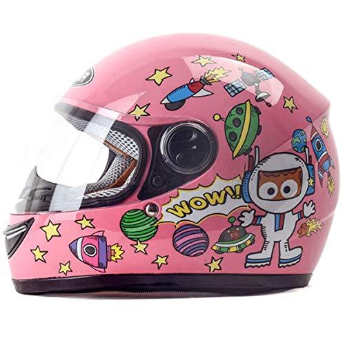 ZOLOP Integralhelme Vollgesichts-Motorrad-helme – Kinder-helm , Elektrofahrrad , Junge Mädchen , Einstellbare Größe…