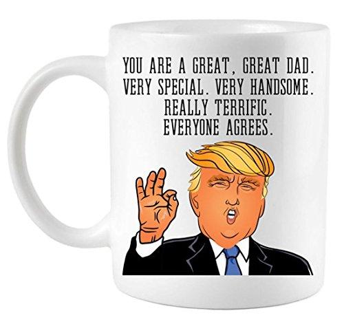 Funny Donald Trump Father's Day Dad Coffee Mug (Fathers Day Coffee)