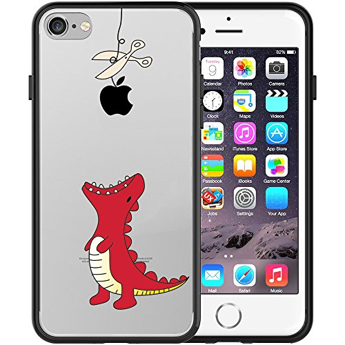 iphone-7-case-swiftbox-clear-black-case-with-design-for-iphone-7-red-little-dinosaur