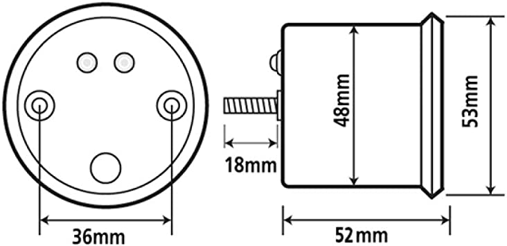 Koso Temperature Gauge Gp Style D48 Thermometer Max 150 C Auto
