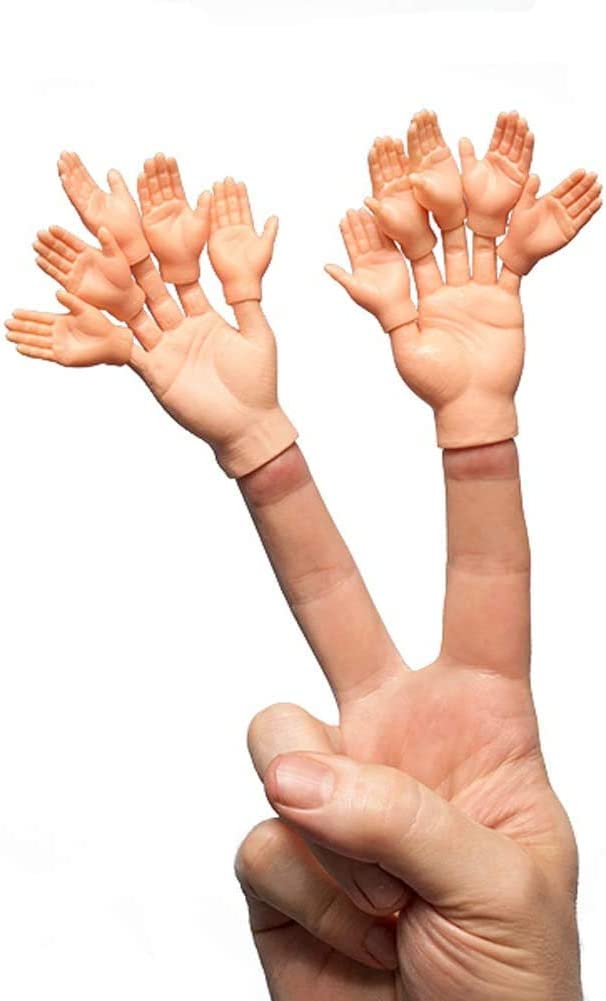 Soft Vinyl Finger Puppets Sarcastic Toys for a Crazy Game Night with Friends Black, Tan or White 2pcs Finger Hands Finger Puppets //w 10pcs Finger Hands For Finger Hands Assorted Tones
