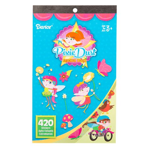 Darice Fairy Themed Sticker Book Set Magic Blooms and Pixie Dust