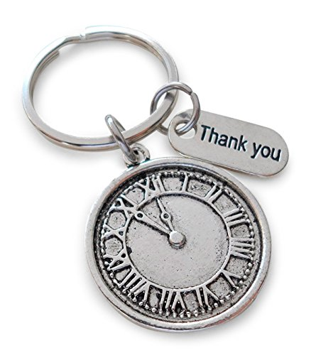 Volunteer Appreciation Gift Clock Keychain- Thanks For Giving Us Your Time