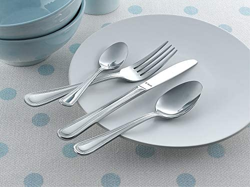 Amefa Monogram Bead Cutlery Set Stainless Steel 24 Piece