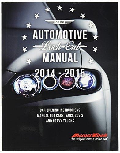 Access Tools Car Opening Tools Manual