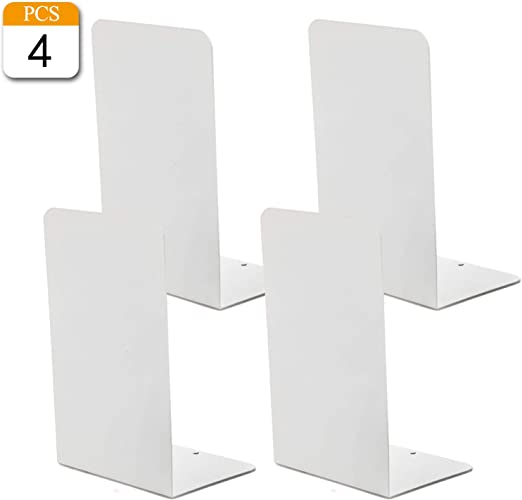 Heavy Duty Metal Bookends Home School Office Stationery Book Ends 2 Pairs 4