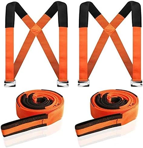 Furniture carrying strap is convenient to carry furniture and electrical appliances you can carry items that are not more than 550 pounds and give you two pairs of gloves orange If you work together