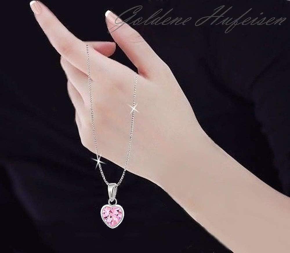 SchmuckDesign-Nord Parure de bijoux en argent 925 avec zircone rose et cha/îne 40 cm