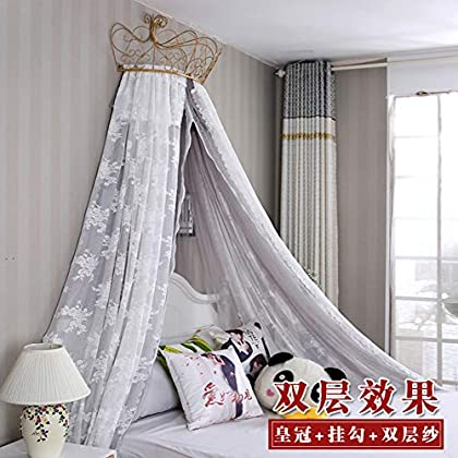 Image of Home and Kitchen HOMEJYMADE Princess Bed Canopy,Fringe Mosquito net Mosquito net Bed Canopy Girls Bedding Decor-C 2.0m