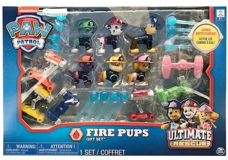 Nickelodeon Paw Patrol Fire Pups Ultimate Rescue 6 Figure Gift Set -