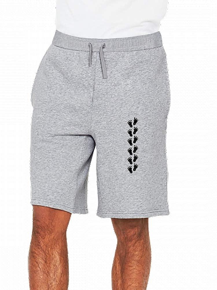 JiJingHeWang Footsteps Baby Mens Casual Shorts Pants