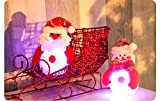 CHshe Kawaii Mr.Snowman String Fairy Lights, 'Light up the Light of the Night and Life' , 1Pc 10*9cm Energy Saving Hot Sale LED Light for Christmas Wedding Party (Red)