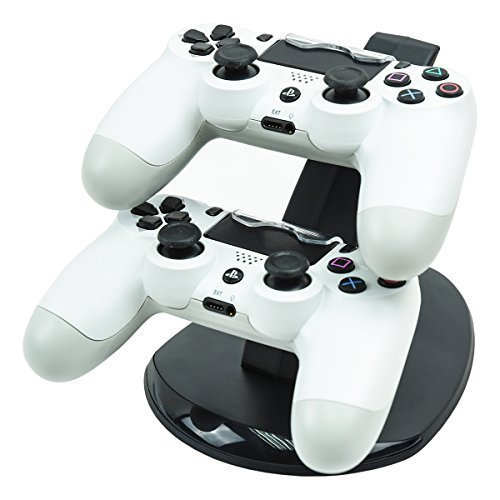 Price comparison product image Mondpalast Dual Docking Station Base Charging Dock Cradle Stand Holder for Sony Playstation 4 dualshock 4 PS4 ps4 wireless controller gamepad joypad