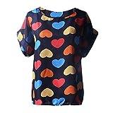 Blouses,Toraway Women Printed Tropical Chiffon Short Sleeve Blouse Tops Shirt (Medium, A)