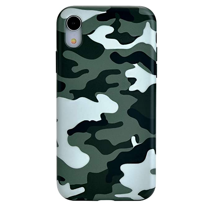 new arrival 3fdb8 ea5e6 Green Camo iPhone XR Case - Premium Protective Cover - Cool Phone Cases for  Girls & Men [Drop Test Certified]