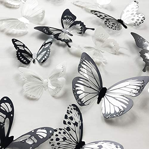 V Time Colorful Butterfly Butterflies Removable