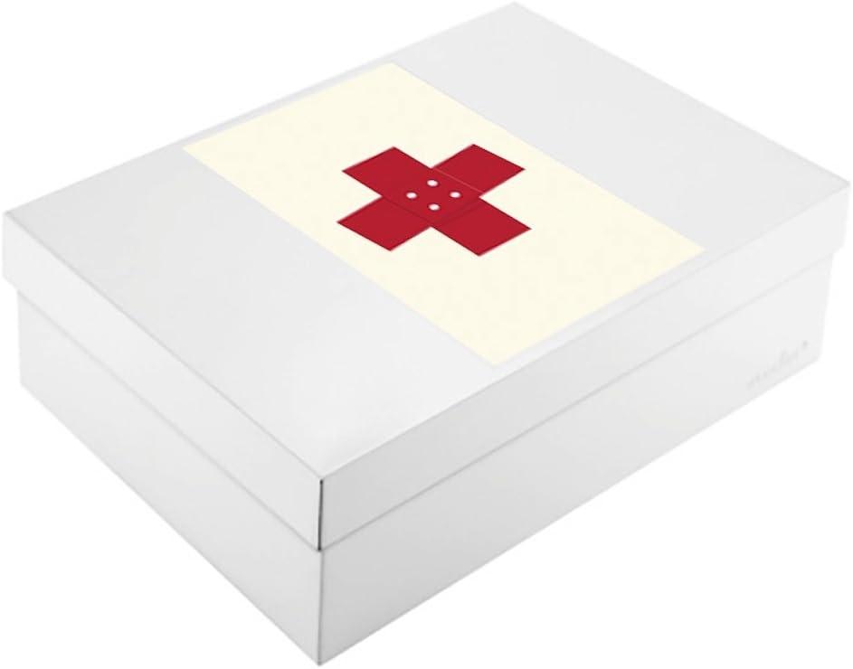 Corriente by Infinity Boxes Juego de Cajas de 3 Piezas, magnético Cruz + Caja de Metal, Grande, Rectangular, Color Crema: Amazon.es: Juguetes y juegos
