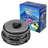 Cheap CFStore 8 Pcs Set Lightweight Outdoor Camping Hiking Cookware Backpacking Cooking Picnic Bowl Pot Pan Set (DS-200)