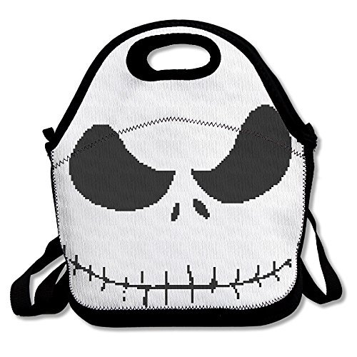 [Black The Nightmare Before Christmas1 Unisex Lunch Bag For Woman Man Kid] (Boogie Man Nightmare Before Christmas Costumes)