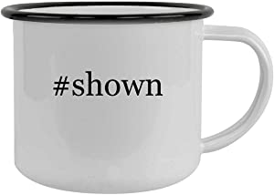 #shown - 12oz Hashtag Camping Mug Stainless Steel, Black