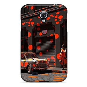 DaMMeke Perfect Tpu Case For Galaxy S4/ Anti-scratch Protector Case (orange Crazyness) by icecream design