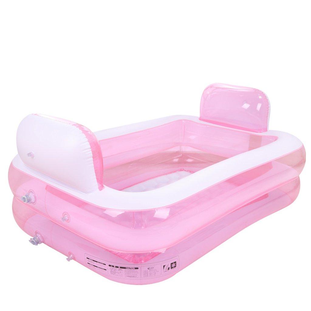 Bañeras con Jacuzzi Hinchable Plegable Engrosada niños baño ...