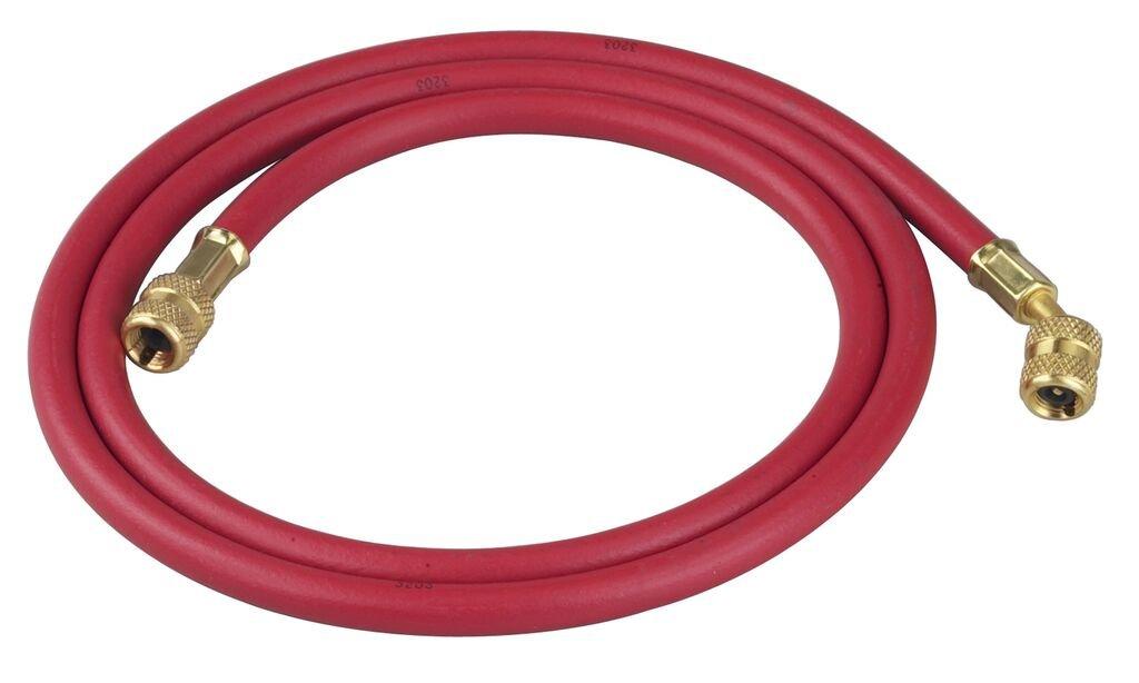 60 Long Standard Fittings Robinair 33060 1//4 Premium Refrigerant Charging Hose Red