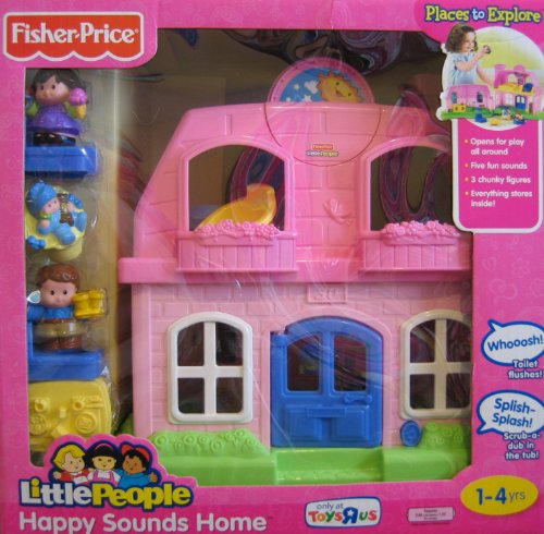 Fisher Price Little People Happy Sounds Home Pink W Sounds 3 Figures Toysrus Exclusive 2009