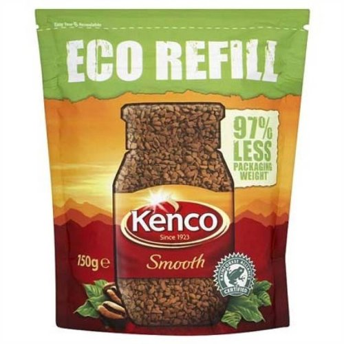 Kenco Smooth Roast Instant Coffee Eco Refill (150g/5.29oz) (Smooth Instant Coffee)