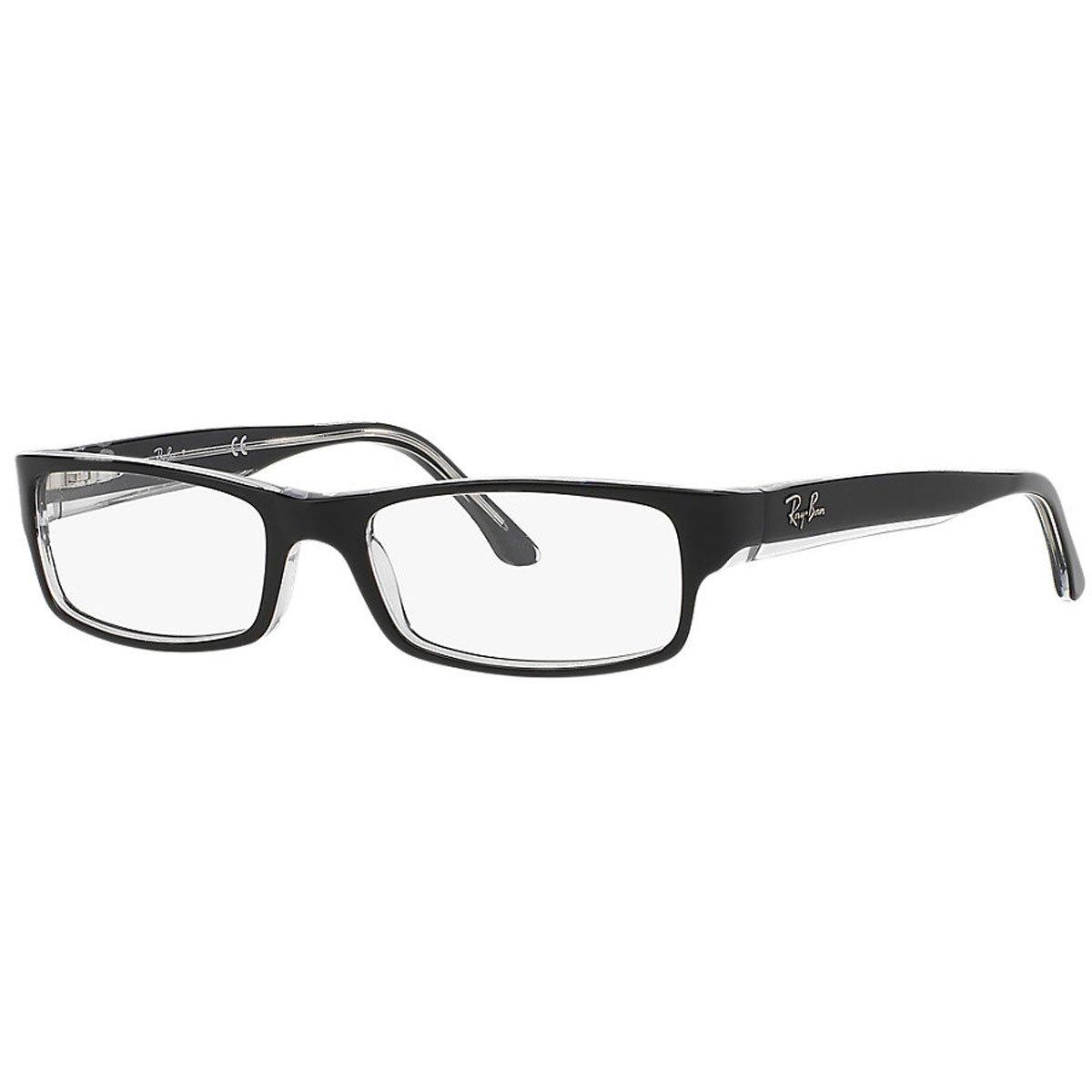 Ray Ban Optical Occhiali da sole RX5114 Nero su trasparente Luxottica 805289464327