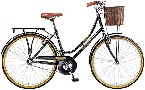 Brooklyn Village Black SS Bicicleta vintage para mujer: Amazon.es ...