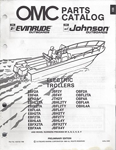 OMC Parts Catalog Evinrude Johnson Outboards Electric Trollers - P/N (Johnson Omc Outboard Part Catalog)