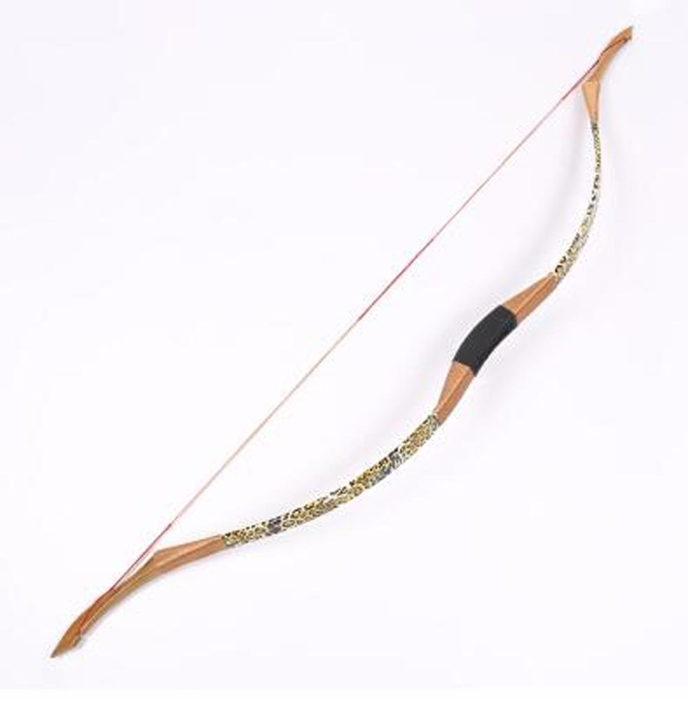 TX Traditional Mongolian Bows Archery Competition Reverse Bow Leopard Leather