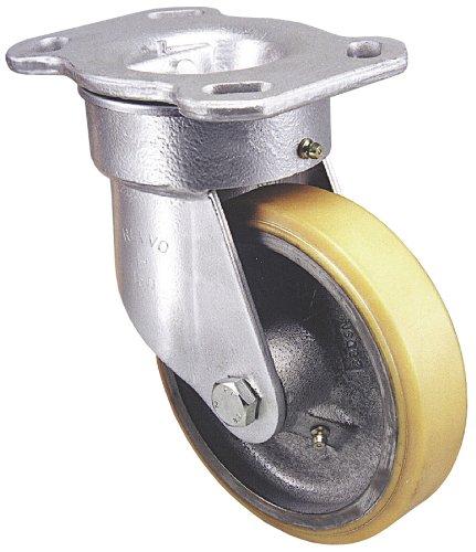 Revvo Caster H Series Plate Caster, Rigid, Polyurethane W...