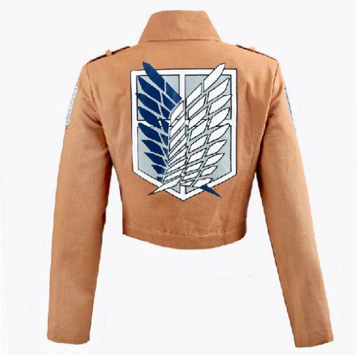 Shingeki No Kyojin Cosplay Costume (Cosplay Attack on Titan Shingeki no Kyojin Recon Corps Jacket Coat Costume (L))