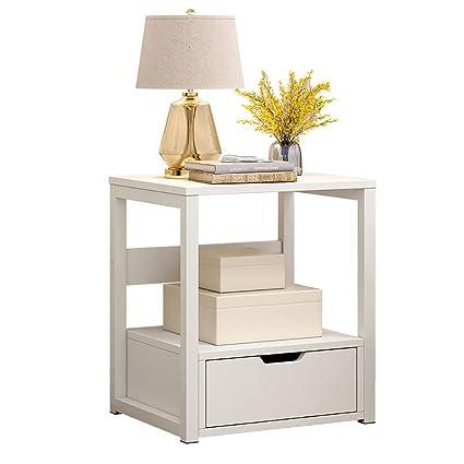 Amazon.com: MMHJJLHB Bedside Tables White Girls Bedroom ...