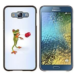 TECHCASE---Cubierta de la caja de protección para la piel dura ** Samsung Galaxy E7 E700 ** --Naturaleza Hermosa Forrest Verde 33