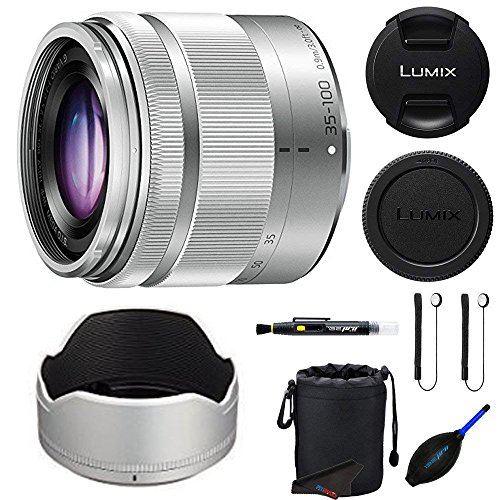 3' Dust Hood - Panasonic 35-100mm f/4-5.6 Interchangeable Zoom Lens (Silver) (White Box) + Pixi-Essentials Accessories Kit