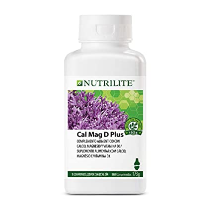 Cal Mag D Plus NUTRILITE 180 comprimidos 2 meses contiene tres nutrientes naturales: calcio,